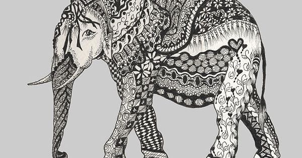Zentangle voor nora 39 s kamer cute drawing ideas pinterest the o 39 jays elephants and zen - Zen kamer ...