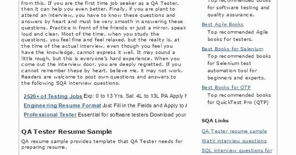 Software Tester Resume Sample Beautiful Qtp Testing Resume Cover Letter Qtp Automation Testing Acceptance Testing Resume Resume Objective Sample