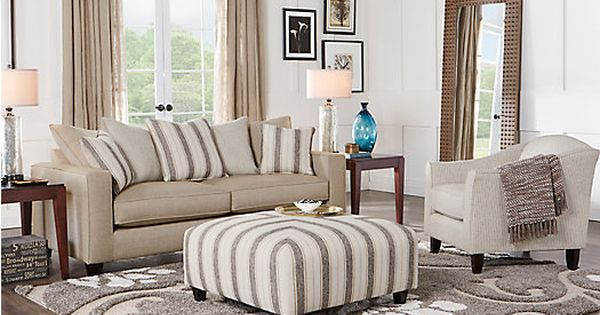 Parker place beige 3 pc living room 1 find for Find living room furniture