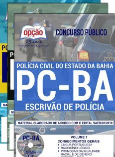 Saiba Mais Apostila Concurso Pc Ba 2018 Escrivao De Policia
