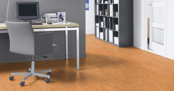 Marmoleum sheet flooring in color sahara 3174 is combined for Floor sheet for office