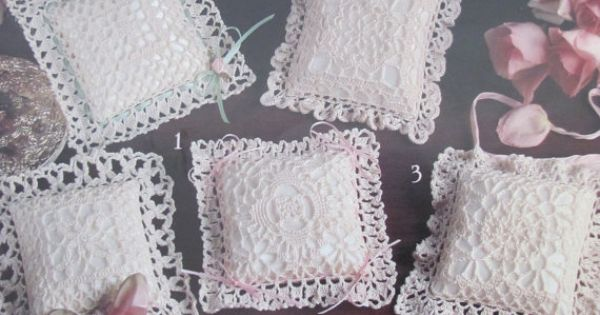 Victorian Sachet Pillows, Crochet Patterns for 6 Sachets, Leisure Arts 2434 Victorian, Crochet ...