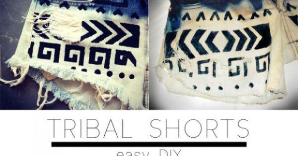 DIY Tribal Shorts!