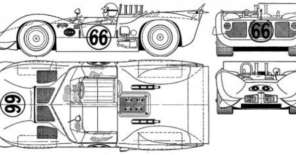 Chaparral 2c With Adjustable Rear Spoiler Blueprint The 2c