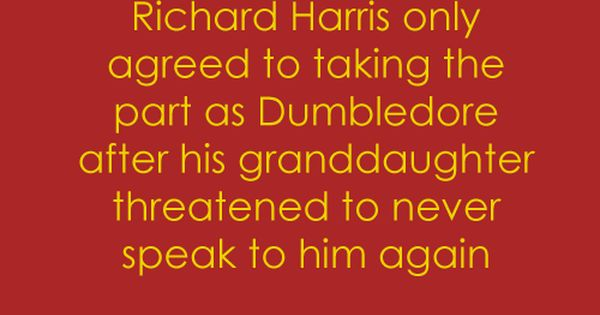 Harry Potter Facts 045: Richard Harris only agreed to taking the part