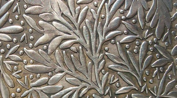 Nickel Silver Texture Metal Sheet Forest Of Leaves Pattern 26g 6 X 2 1 4 Inches Hammering Sheet Metalwork Texture Leaf Texture Metal Sheet