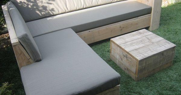 Steigerhouten winkelinrichting tafel meubels lounge hoek bank bed kast tv meubels en hoogslapers - Hoek sofa x ...