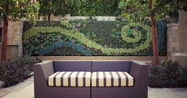 Vertical garden / Outdoor Living Wall, contemporary patio
