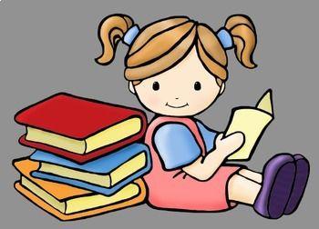 Reading Kids Clip Art Criancas Lendo Livros Dia Do Livro Infantil Bonecos Para Pintar