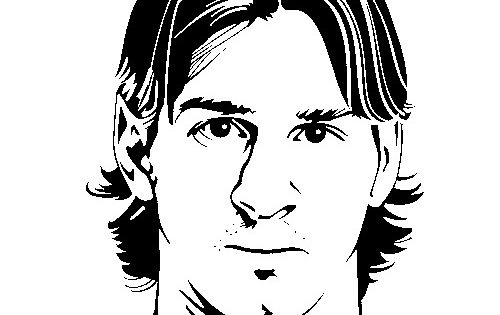 Coloring page Soccer Lionel Messi