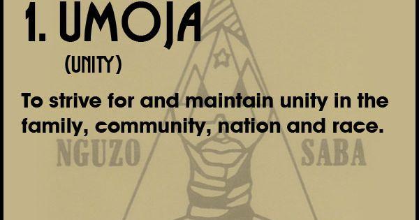 7 Principles Of Kwanzaa 1 Umoja African American
