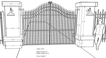 see professional driveway entrance gates  sketches