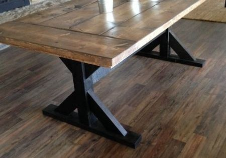 Double Pedestal Dining Tables Modern Farmhouse Table