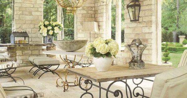 mediterrane terrasse berdacht sichtbare balken kronleuchter patio pinterest mediterrane. Black Bedroom Furniture Sets. Home Design Ideas