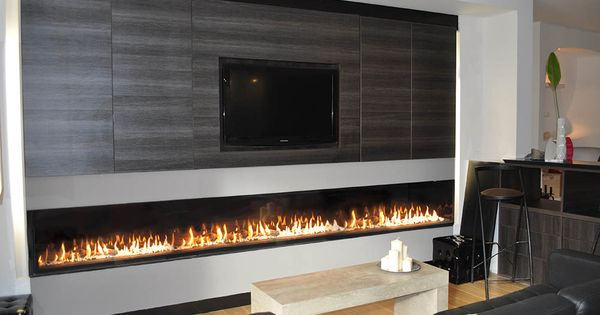 Chemin e gaz grand format extra large gas fireplace for Kitchen ideas frimley