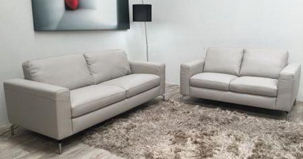 Natuzzi Editions Pisa Stone Italian Leather 3 3 Seater Sofa