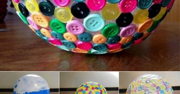 {DIY Button Bowl.} 10 Simple DIY Ideas To Create Unique Bowls