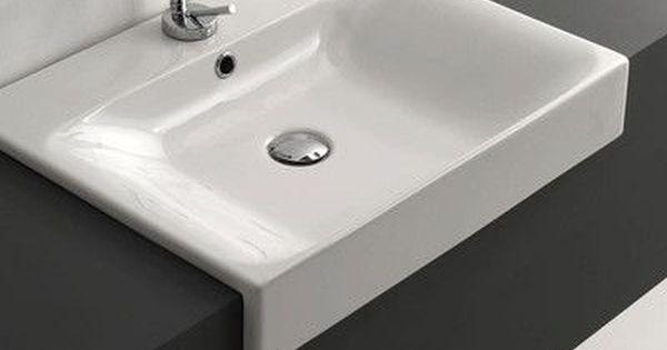 Ws Bath Collections Cento Ceramic Ceramic Rectangular Vessel Bathroom Sink With Overflow Ws Bath Collections Bathroom Sink Rectangular Sink Bathroom