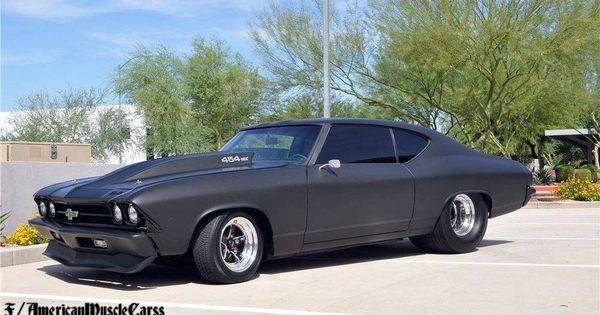 Chevelle Matte Black Muscle Car Muscle Car Pinterest