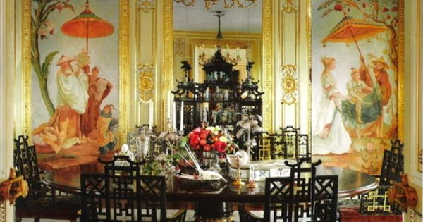 Ann Getty 8217 S Dining Room In Her Home In San Francisco Needless To Say I Die Chinoiserie Decorating Asian Decor Luxury House Designs