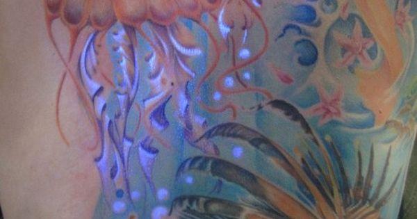 Mermaidish uv tattoo!