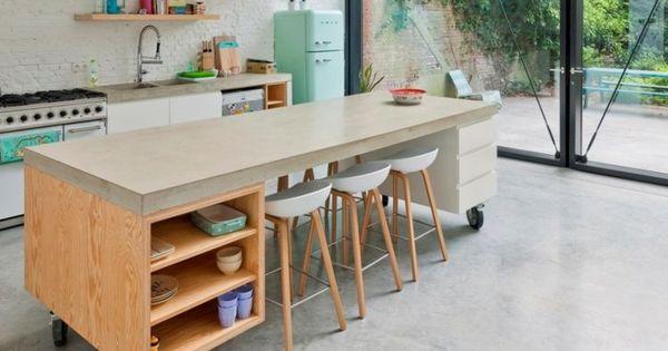 Mobile Kücheninsel Und Hellblauer Retro Kühlschrank | Wohnen | Pinterest | Mobile  Kücheninsel, Retro Kühlschrank Und Kücheninsel