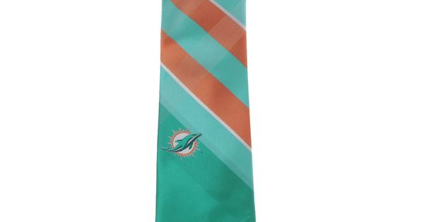 Men's Miami Dolphins Woven Poly Grid Tie | WISH LIST! (Gifting ...