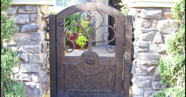 Wrought Iron Courtyard Entry Gate Beautiful Entrance