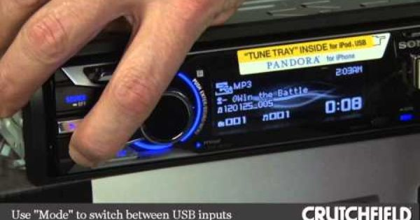 Crutchfield Labs Video Sony Tune Tray Car Stereos Usb Inputs And Iphone 5 Compatibility Car Stereo Crutchfield Car