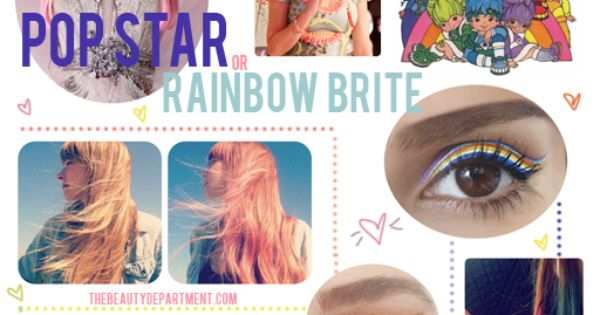 Halloween Beauty Help: Pop Star, Rainbow Brite