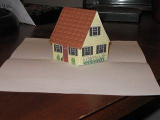 Pop Up Little House Card 2 Tutorial Origamic Architecture Pop Up Cards Paper Flower Ball Paper Art Tutorial