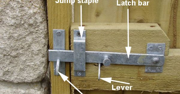 Gate Latch With Lever Could Construct One Out Of Wood