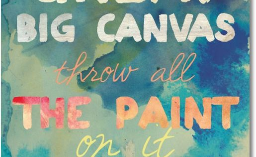 life is a great big canvas. quotes