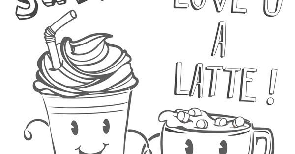 If you love to color a latte print this page for some for Coloring pages spring break