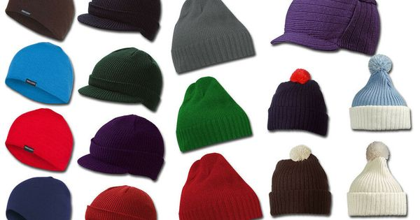 Beanie Hat Peaked Cap Winter Hat with Bobble 8 Model Long Slouch Beanies