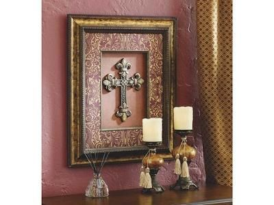 Cross Picture and Candle Holders Celebrating Home is the largest