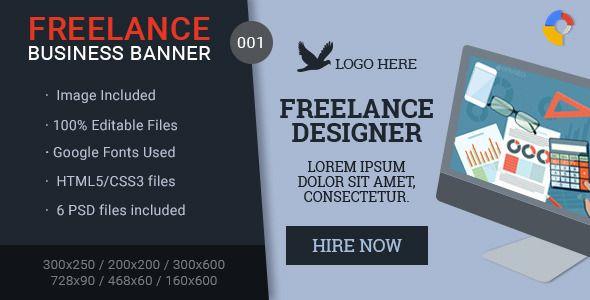 Freelance Business Banner 001 Business Banner Banner Ads Freelance Business