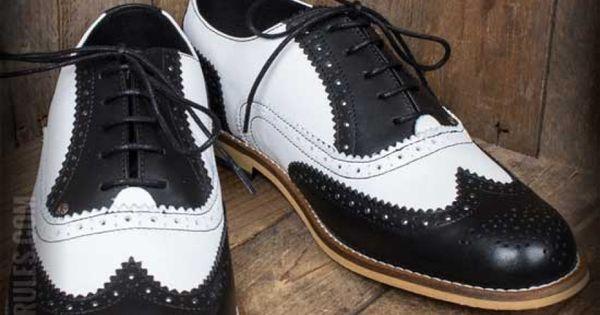 Steelground Budapester Schuhe, schwarz weiß | Budapester