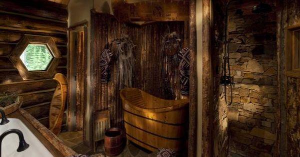 Log cabin bathroom decor - 113 Autumn Ln Mountain Village Co 81435 Cabin Logs And Love The