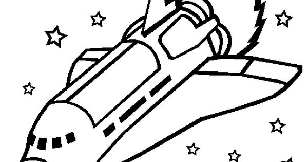 Space Shuttles Crossing The Star Coloring Picture For Kids
