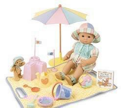NWOB American Girl Bitty Baby sun hat from Beach set outfit
