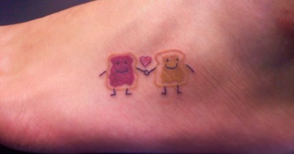 peanut butter and jelly BFF tattoo . if i were to get