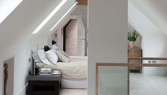 Loft inspiration spaces pinterest loft l genheter och hus - Badkamer mansard ...