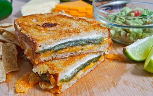 Jalapeño Popper Grilled Cheese Sandwich A jalapeno popper inspired grilled cheese sandwich