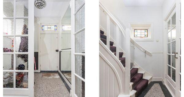 Hal met terrazzo vloer in een jaren30 woning jaren 30 hal pinterest - Deco hal binnenkomst huis ...