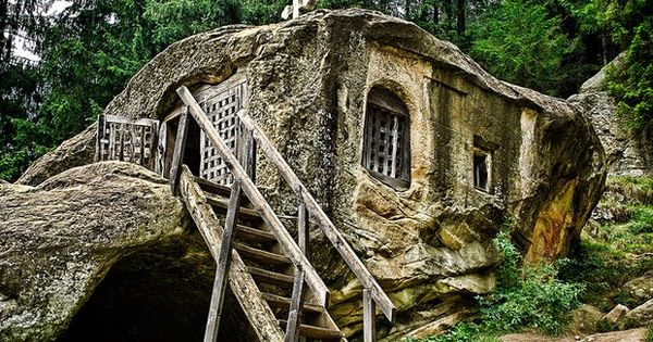 Hermit stone house tiny rustic the green life