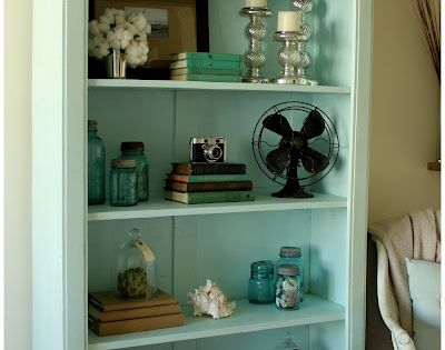 Mint color bookcase