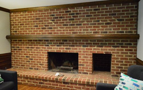 How To Whitewash A Brick Wall Or Fireplace Old Houses