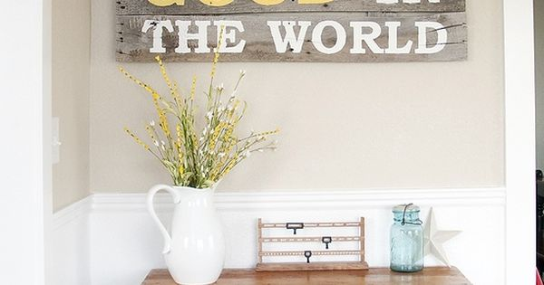 Be The Good - Pallet Wood Wall Art. this quote makes me