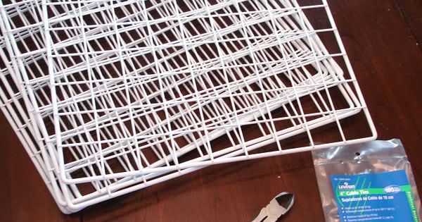 Love this idea for making your own storage racks for paper and